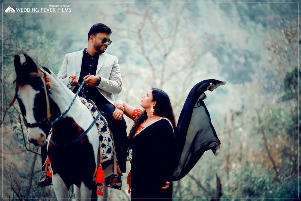 Wow shot with horse (best pre-wedding) in Rishikesh